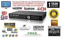 4 Channel HD-SDI True Full HD DVR H264 1920X1080 @ 120FPS Netwrok HDMI 1080P 2TB