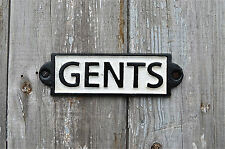 VINTAGE STYLE CAST IRON GENTS DOOR WALL SIGN RAILWAY PLAQUE TOILET SIGN PP4