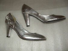 "SILVER COURT S 7 SHOES 3.5"" INCH HEEL BOW DETAIL NEWLOOK YOUR FEET LOOK GORGEOUS"