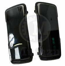 A Pair of New Vivid Black for Harley HD Touring Hard Saddle Bags Lids