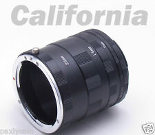 Macro Extension Tube Ring Kit Canon Camera EOS 10D,D30,D60,50D,40D,30D,20D,1Ds