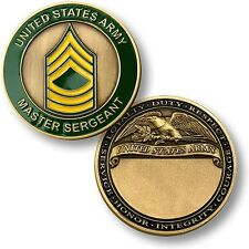 US Army Master Sergeant Challenge Coin E-8 MSG Rank Insignia United States