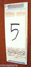 Scontrino biglietto matrice di giocata super ENALOTTO 13 numeri 8 combinazioni 5