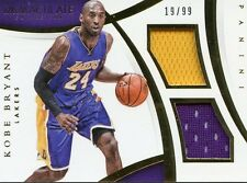 2014-15 IMMACULATE COLLECTION KOBE BRYANT DUAL JERSEY # 19/99