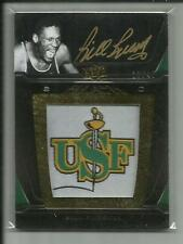 BILL RUSSELL 2011-12 EXQUISITE UD BLACK LOGO PATCH AUTO /40 L-BR