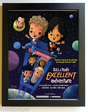FRAMED BILL &  TED'S EXCELLENT ADVENTURE MOVIE POSTER SIGNED ARTIST WALL ART AND