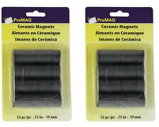 Ceramic magnet Ferrite .75 inch Round NEW IN PACKAGE Promag 2 Pack 104ct