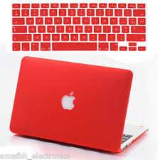 "Red Hard Cover + Silicon Keyboard Skin + Screen Guard For Macbook Pro 13.3 "" 13"