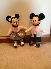 Applause Vintage Disney Mickey Minnie Mouse1950's Style Sock Hop Plush