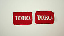 2 Vintage Toro Tractor Lawn Mower Farm Equipment Cloth Jacket Patch New NOS