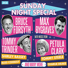3 CD BOX SUNDAY NIGHT SPECIAL PALLADIUM FORSYTH BASSEY STEELE BYGRAVES COGAN ETC