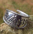 Silberring 925 Silber Gr.60-70 Wikingerring Mittelalter Wotansknoten Valknut