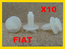 10 Fiat fixation De La Garniture Custode plastique Clips voiture 7mm 19P