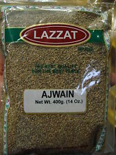 LAZZAT Ajwain Seeds CAROM 14oz / 400g Bag BEST QUALITY & PRICE- USA SHIPPED FAST