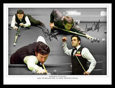 *New* Jimmy White And Ronnie O'Sullivan Dual Signed 12x16 Snooker Montage