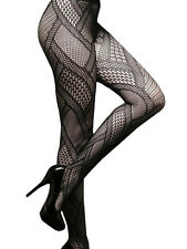 LUXURY MULTI PATTERNED DIAMOND GEOMETRIC FASHION PANTYHOSE / TIGHTS Free UK P&P