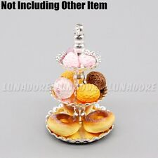 1:12 Dollhouse Metal Bakery Food Display Cake Stand 3-Tier Tray Miniature Decor