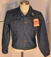 VINTAGE NEW 1960s-70s MAVERICK BLUE BELL SANFORIZED DENIM TRUCKER JACKET! NWT 38