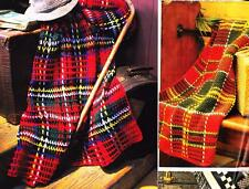 2  TARTAN TRAVELLERS RUGS 8ply or DK - Afghan crochet pattern