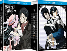 Black Butler . The Complete Season 1 + 2 + OVA's . Anime . 5 Blu-ray + 7 DVD NEU