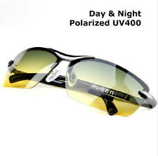 Day Night Vision Men's Polarized Sunglasses Driving Aviator Mirror Sun Glasses