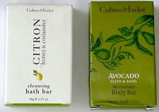 SET OF 2 CRABTREE & EVELYN SOAP BARS Avocado/Citron Body Bath 1.75 oz  NEW