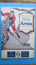 1929-30 NEW HAVEN EAGLES vs SPRINGFIELD INDIANS AHL HOCKEY Game PROGRAM VG RARE!