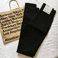 American Apparel High Waist Skinny Easy Jean jeans Legging Black Size SMALL NWT
