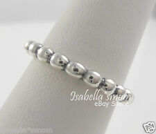 CLOUD 9 Genuine PANDORA Sterling Silver STACKABLE Bead Style Band Ring 6/52 NEW