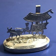 SAMMY STERLING SILVER PLACE CARD HOLDER HONG KONG CHINA ANTIQUE CARRIAGE MULE UK