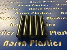 "DELRIN ROD VALUE BOX- 5 PCS 1"" DIA BLACK X 5"" LONG FREE SHIPPING"