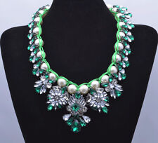 ANTHROPOLOGIE ELEGANT EMERALD PEARLS MARISA STATEMENT NECKLACE – NEW