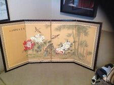 BEAUTIFUL HANDPAINTED ANTIIQUE JAPANESE BYOBU/FLOOR/WALL/SCREEN