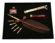 Calligraphy Pen Set with Feather Quill and 5 Nibs