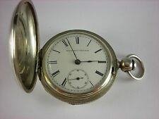 Antique early Elgin W.H.Ferry key wind pocket watch 1873 Coin silver Hunter case