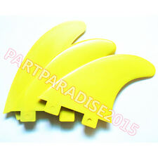 Surfboard Fins Yellow FCS Compatible G5 Surfboard Fins FCS Compatible