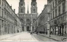 CPA 45 ORLEANS la rue jeanne d'arc & la cathedrale
