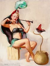 1940s Pin-Up Girl The Snake Charmer Picture Poster Print Art Pin Up