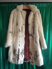 Vintage Real Fur Coat Coney White Brown Size Small 8