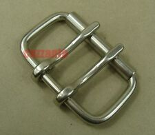 "2 3/8"" 60mm Stainless  Two Tongue Pin Buckles Horse Western Belt Z063"