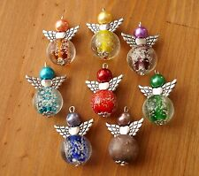 8x Mix Snowing Ball Style Christmas Winter Angel Charms Beads Silver Wings
