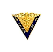 Nurses Aide Lapel Pin V Shape Medical Caduceus Gold Plated Graduation 5009 New