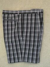 GREG NORMAN COTTON PLAID SHORTS - 38 - EXCELLENT - FREE SHIPPING