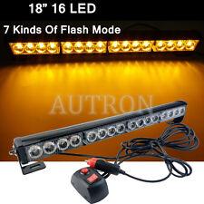 16W 16LED Work Light Bar Beacon Tow Truck Emergency Warning Strobe Lights Amber