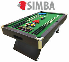8 Ft Pool Table Billiard Playing Table Game Green LEONIDA Indoor Sports