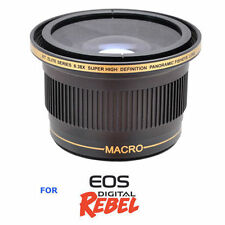 X38 SPORTS ACTION EXTREME FISHEYE LENS FOR CANON EOS REBEL 1000D 1100D 1200D SL1