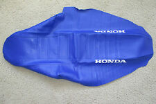 TEAM HONDA  BLUE PLEATED GRIPPER SEAT COVER  2000 2001 CR125 CR250 CR250R