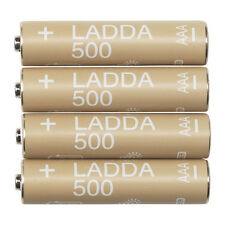 4 x IKEA LADDA AAA Rechargeable 1.2V HR03 NiMH 500 mAh Batteries NEW