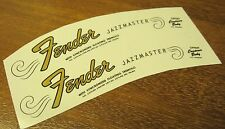 2 Fender Jazzmaster Headstock Waterslide Decal Strat Vintage Guitar Neck 64-65