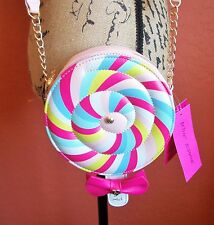 "BETSEY JOHNSON Kitsch ""Lollipop"" Cross Body Shoulder Bag Purse"